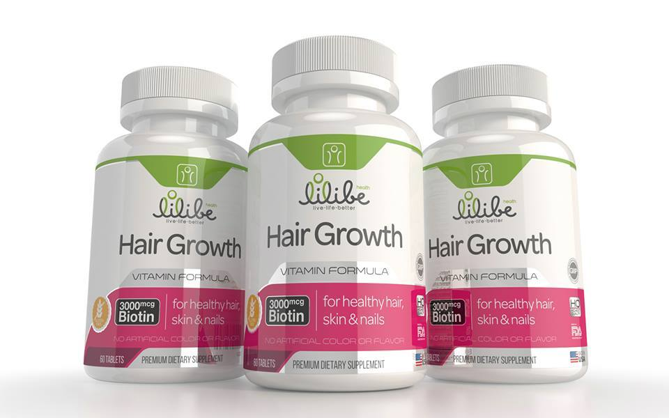 Lilibe Hair Skin Nails Growth With 3000mcg Biotin